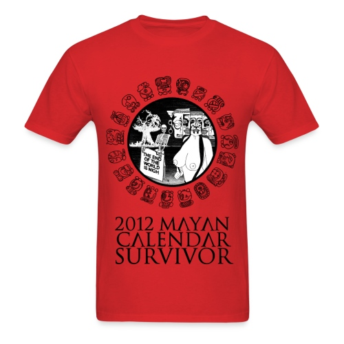 2012 Mayan Calendar Survivor - Men's T-Shirt