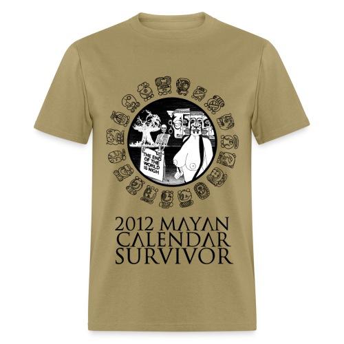 2012 Mayan Calendar Survivor - Men's T-Shirt