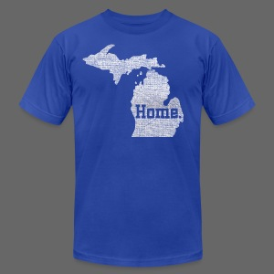 Michigan Home - Men's T-Shirt by American Apparel