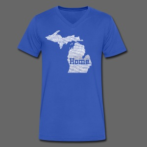 Michigan Home - Men's V-Neck T-Shirt by Canvas