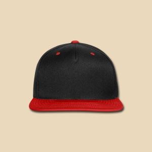 Black & Red Snapback - Snap-back Baseball Cap