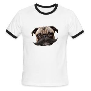 Hugo Mustachio for him - Men's Ringer T-Shirt