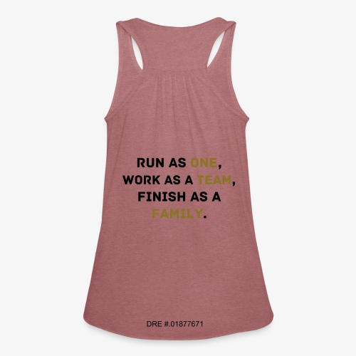 care-run (women's) - Women's Flowy Tank Top by Bella