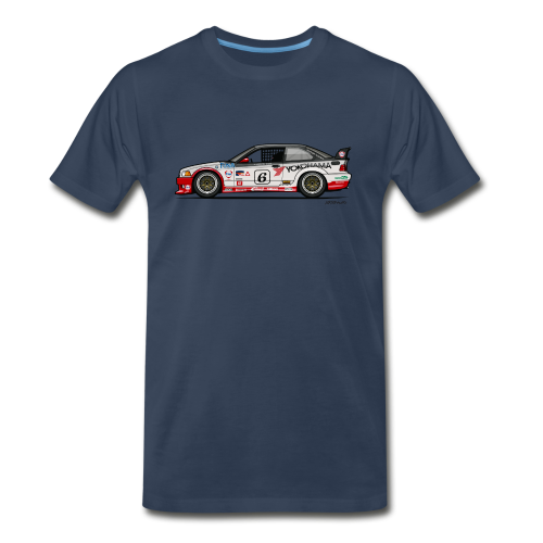 E36 GTS-2 PTG Race Car - Men's Premium T-Shirt