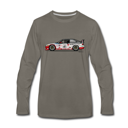 E36 GTS-2 PTG Race Car - Men's Premium Long Sleeve T-Shirt
