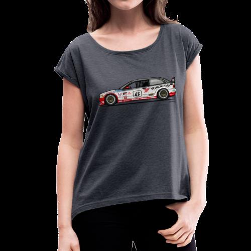 E36 GTS-2 PTG Race Car - Women's Roll Cuff T-Shirt