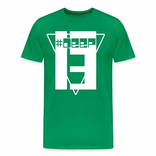 #Deep13 White Logo T-Shirt (Single Color) - Men's Premium T-Shirt