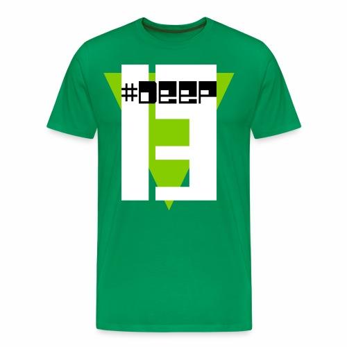 #Deep13 Green Logo T-Shirt - Men's Premium T-Shirt