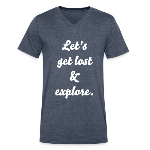 Let's Get Lost and Explore - Men's V-Neck T-Shirt by Canvas
