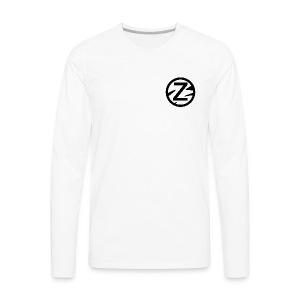Zèbra Turtle Long Tee - Blue/Red - Men's Premium Long Sleeve T-Shirt