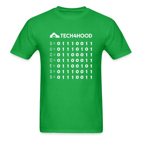 Tech4Hood Rookie Rank T-Shirt Men Binary Success - Men's T-Shirt