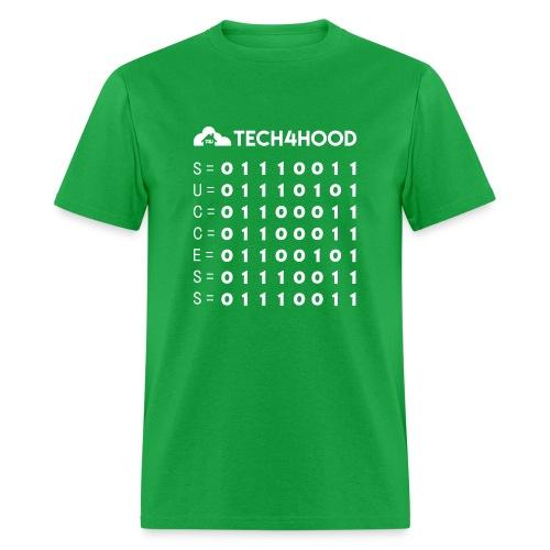 Tech4Hood Rookie Rank T-Shirt Men Binary Success - Men's T-Shirt