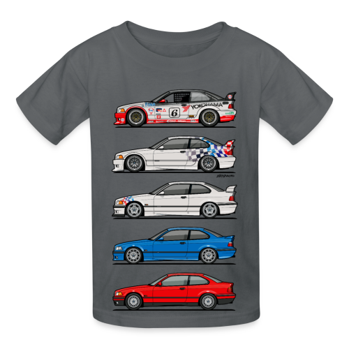 Stack of E36 coupes - Kids' T-Shirt