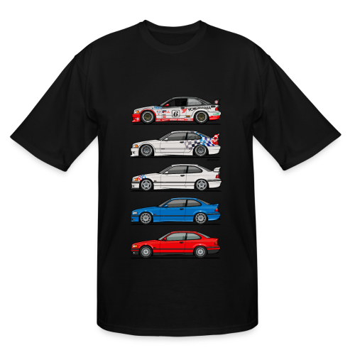Stack of E36 coupes - Men's Tall T-Shirt