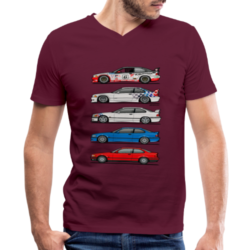 Stack of E36 coupes - Men's V-Neck T-Shirt by Canvas