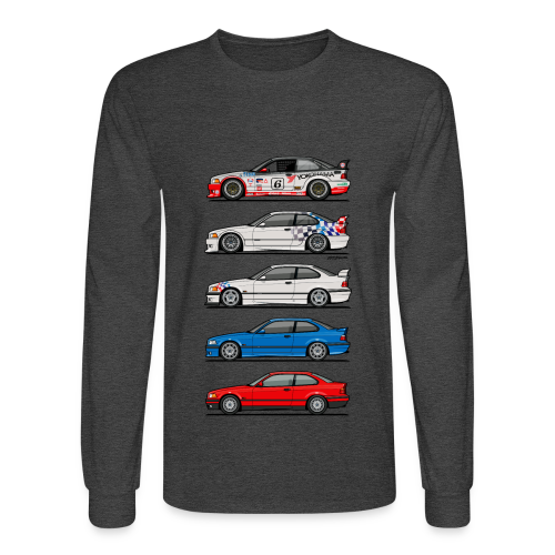 Stack of E36 coupes - Men's Long Sleeve T-Shirt