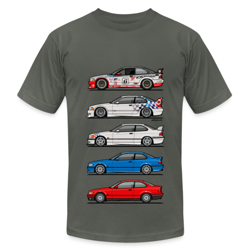 Stack of E36 coupes - Men's  Jersey T-Shirt