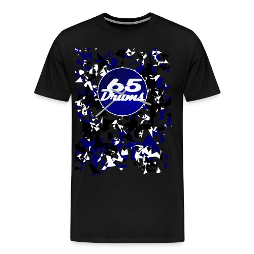 65 Drums Shards Logo - Men's Premium T-Shirt