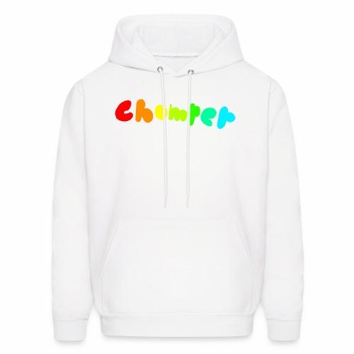 Chomper rainbow logo white Hoodie - Men's Hoodie