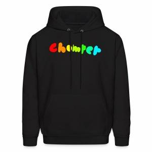 Chomper rainbow logo black Hoodie - Men's Hoodie