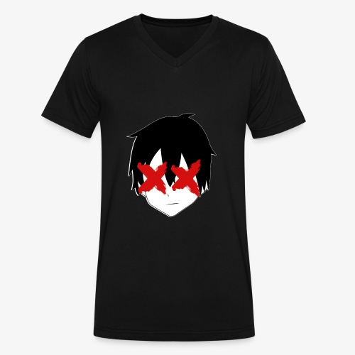 Anime Lifestyle Tee - Men's V-Neck T-Shirt by Canvas