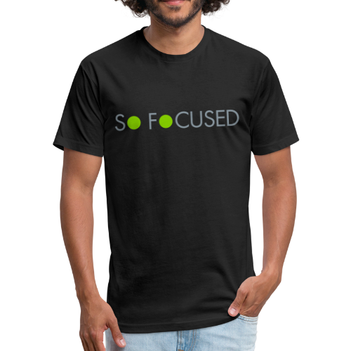 So Focused - Fitted Cotton/Poly T-Shirt by Next Level
