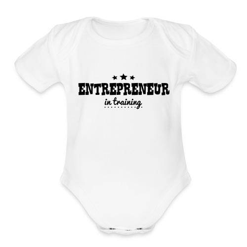 OUTCHEA GRINDIN' - Organic Short Sleeve Baby Bodysuit