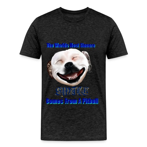 The Greatest Smile In The World is A Pitbull Smile.  You can't beat that Grin. - Men's Premium T-Shirt