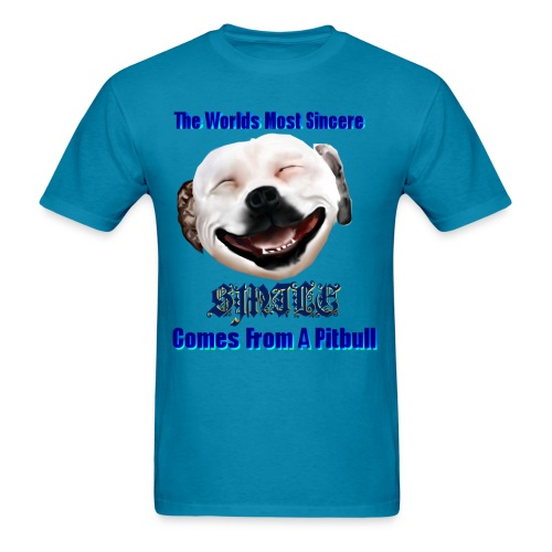 The Greatest Smile In The World is A Pit Bull Smile. - Men's T-Shirt