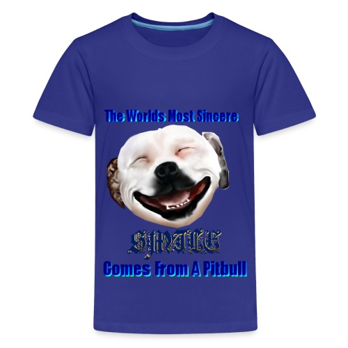 The Greatest Smile In The World is A Pitbull Smile.   - Kids' Premium T-Shirt