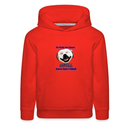 The Greatest Smile In The World is A Pit Bull Smile. - Kids' Premium Hoodie