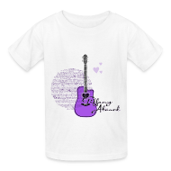 Kids' Shirts ~ Kids' T-Shirt ~ Purple Guitar