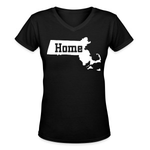 Massachusetts Home - Women's V-Neck T-Shirt