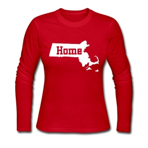 Massachusetts Home - Women's Long Sleeve Jersey T-Shirt