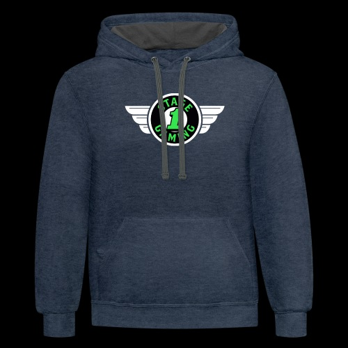 Authentic Stage 1 Gaming Hoodie - Navy and Charcoal - Men's - Contrast Hoodie