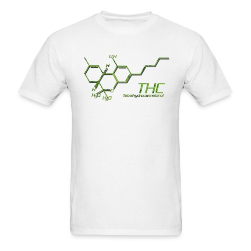 THC Molecule Color - Men's T-Shirt