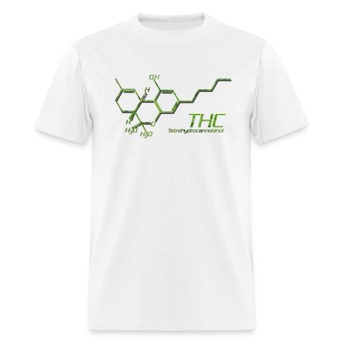 THC Molecule Color - Men's T-Shirt