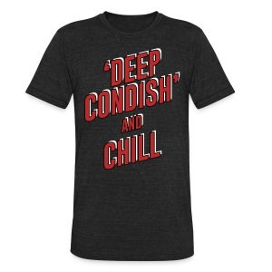 DEEP CONDISH red + black - Unisex Tri-Blend T-Shirt