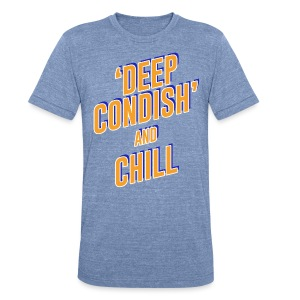DEEP CONDISH blue + orange - Unisex Tri-Blend T-Shirt