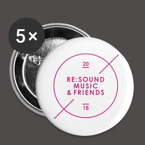 Re:Sound Music & Friends 2018 - Pins - Large Buttons
