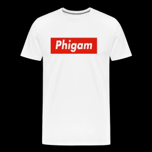 Phigam Box Logo - T-Shirt - Men's Premium T-Shirt