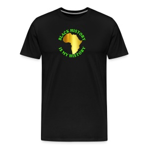 GLD BLK HSTRY T-SHIRT - Men's Premium T-Shirt