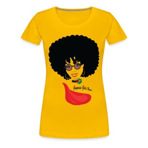 Afro Girl  - Women's Premium T-Shirt