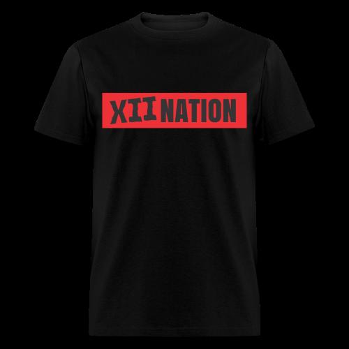 XII NATION RED&BLACK - Men's T-Shirt