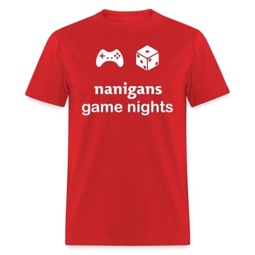 Nanigans Game Nights (Men's) - Men's T-Shirt