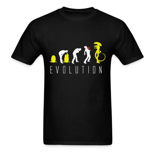 Alien  Evolution - Men's T-Shirt
