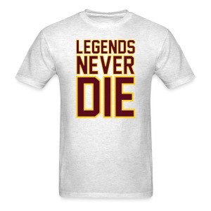 Legends Never Die Tee - Heather Grey - Men's T-Shirt