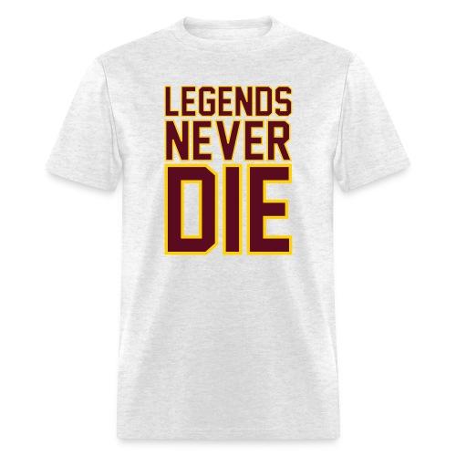 Legends Never Die Tee - Heather Grey - Men's T-Shirt