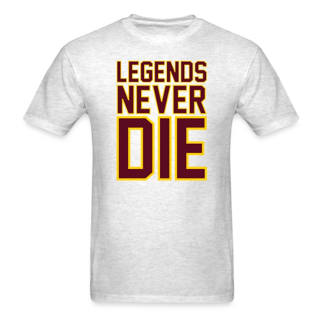 """""""Legends Never Die"""" Tee - Heather Grey"""