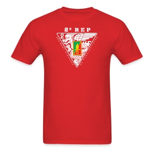2e REP Badge - Foreign Legion - T-Shirt - Front & Back - Men's T-Shirt